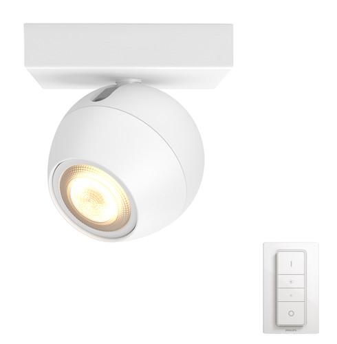 Aufbauspot Philips Hue Buckram White Ambiance 1er-Spot Weiß + Dimmer Bluetooth Main Image