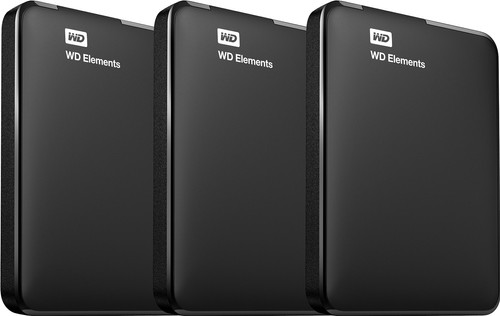 WD Elements Portable 5 TB 3er-Pack Main Image