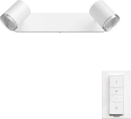 Philips Hue Adore oberflächenmontierter Spot für das Badezimmer White Ambiance 2er-Spot We Main Image