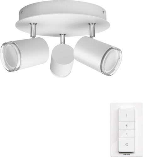 Philips Hue Adore oberflächenmontierter Spot für das Badezimmer White Ambiance 3er-Spot We Main Image