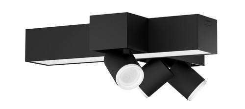 Philips Hue Centris oberflächenmontierter Spot Weiß- & Farblicht drei Spots Schwarz Kreuzf Main Image