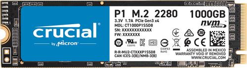 Crucial P1 SSD, 1 TB Main Image