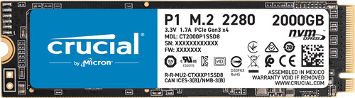Crucial P1 SSD, 2 TB Main Image