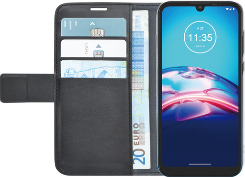 Azuri Brieftasche Motorola Moto E6s Bücherregal Schwarz Main Image