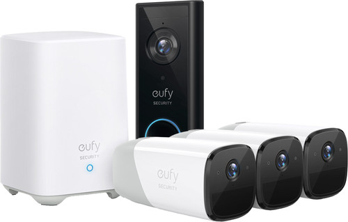 Eufy by Anker Eufycam 2 3-Pack + Video Doorbell Battery Main Image