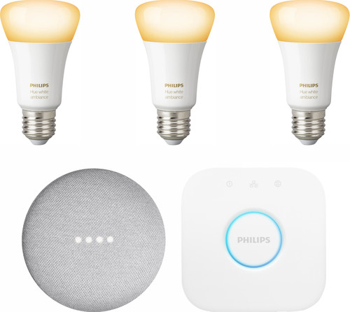 Google Nest Mini Philips Hue White Ambiance Starter 3er-Pack Main Image