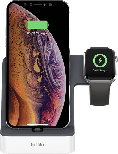 Belkin PowerHouse Dockingstation iPhone + Apple Watch Weiß Main Image
