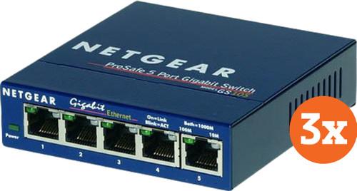 Netgear GS105 3er-Pack Main Image