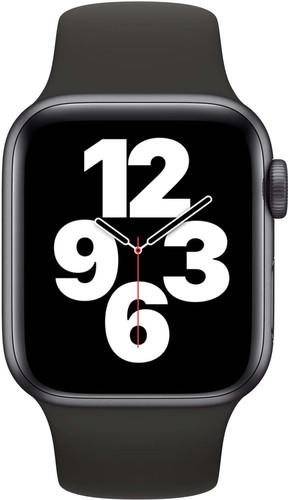 Apple Watch SE 40mm Space Grau Aluminium Schwarzes Sportarmband Main Image