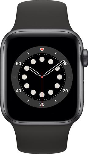 Apple Watch Series 6 40mm Space Grau Aluminium Schwarzes Sportarmband Main Image