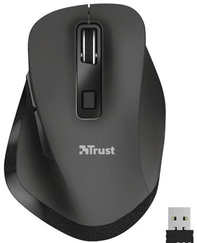 Trust Fyda wiederaufladbare kabellose Maus Schwarz Main Image