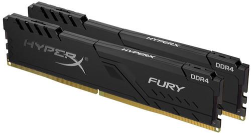 HyperX 32 GB 3.200 MHz DDR4 CL16 DIMM (Set mit 2) 1 R x 8 HyperX FURY Black Main Image