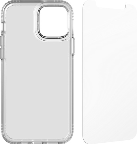 Tech21 Evo Clear Apple iPhone 12/12 Pro Backcover in Transparent + Displayschutzfolie Main Image