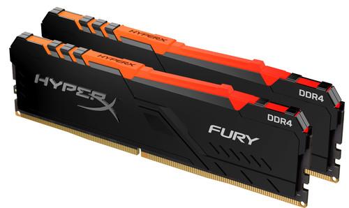 Kingston HyperX 32 GB 3.200 MHz DDR4 CL16 DIMM (Set mit 2) Fury RGB Main Image
