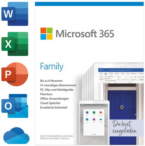 Microsoft Office 365 Family Mac/Win 6 Nutzer 1 Year Projekt Retail (P) Main Image