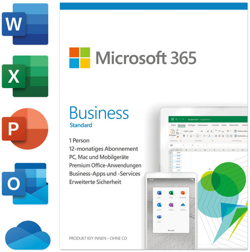 Microsoft Office 365 Business Premium Mac/Win 5 Nutzer 1 Jahr Main Image