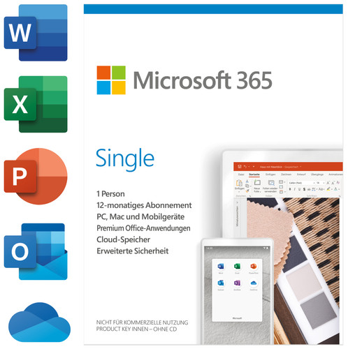 Microsoft Office 365 Personal Mac/Win 1 Nutzer 1 Jahr Lizenz Main Image