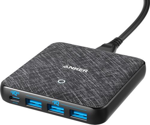 Anker Power Delivery Ladegerät ohne Kabel mit vier USB-Anschlüssen 45 W Power Delivery Main Image