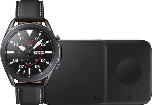 Samsung Galaxy Watch3 Schwarz 45 mm + Samsung Kabelloses Ladegerät DUO Pad 9W Schwarz Main Image