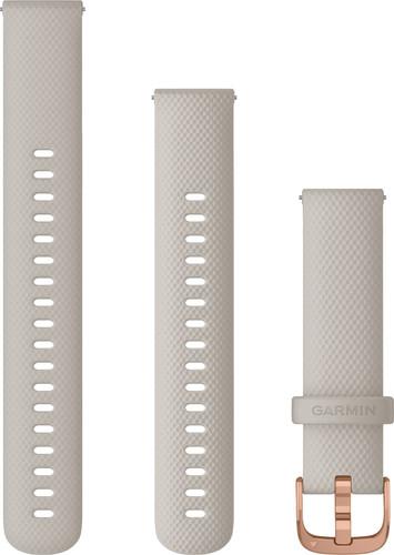 Garmin Silikonarmband Creme/Roségold 18 mm Main Image