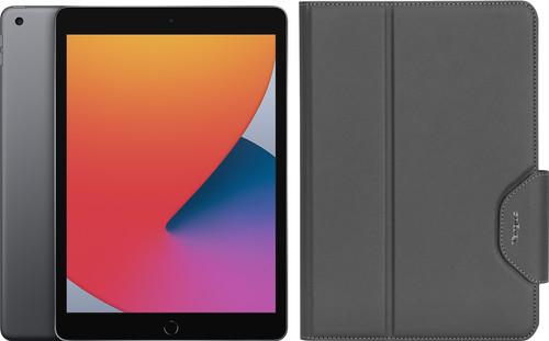Apple iPad (2020) 10,2 Zoll 128 GB WLAN Space Grau + Targus VersaVu Bookcase Main Image