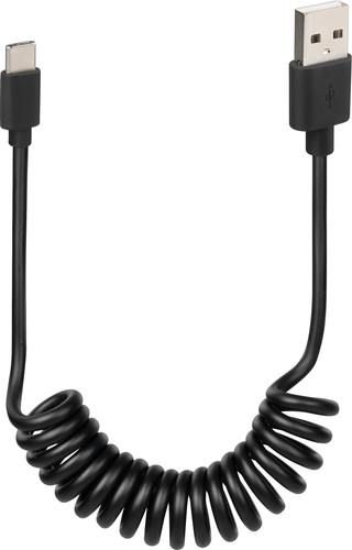 Lampa-Spiralkabel USB-A-zu-USB-C Schwarz 1 m Main Image