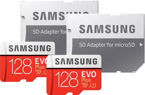 Samsung microSDXC EVO Plus 128 GB + SD Adapter Duo Pack Main Image