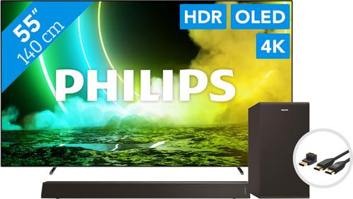 Philips 55OLED705 (2021) + Soundbar + HDMI-Kabel Main Image