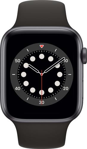 Apple Watch Series 6 44mm Space Grau Aluminium Schwarzes Sportarmband Main Image