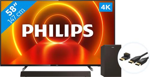 Philips 58PUS7805 - Ambilight + Soundbar + HDMI-Kabel Main Image
