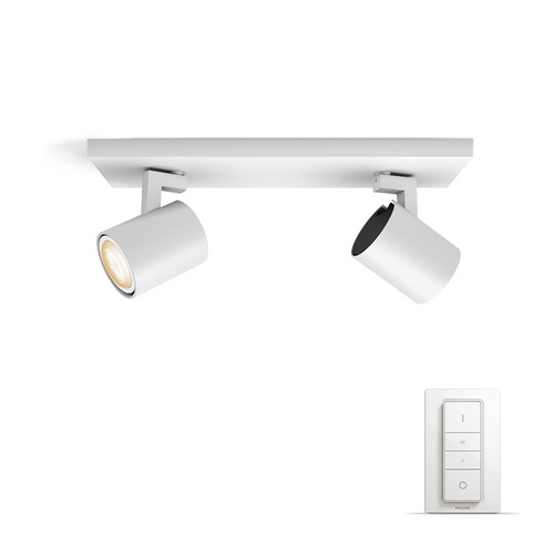 Philips Hue Runner oberflächenmontierter Spot White Ambiance 2er-Spot Weiß Bluetooth Main Image