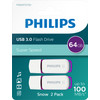 Philips FM64FD75D - USB 3.0 64 GB - Snow Edition Magic Purple - 2 Stück