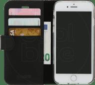 Valenta Booklet Classic Luxus Apple iPhone SE 08.02.7 Bücherregal Leder Schwarz