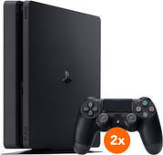 Sony PlayStation 4 Slim 500 GB + 2 Dualshock-Controller