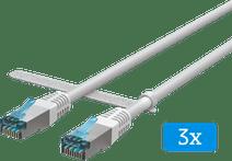BlueBuilt Netzwerkkabel FTP CAT6 1 Meter Weiß 3er-Pack