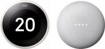 Nest Learning Thermostat V3 Premium Weiß + Google Nest Mini Weiß