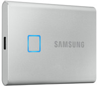 Samsung T7 Touch Portable SSD, 1 TB, Silber