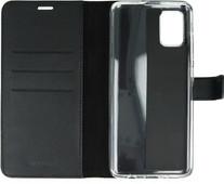 Valenta Samsung Galaxy A71 Bücherregal Leder Schwarz