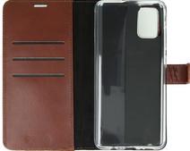 Valenta Samsung Galaxy A71 Bücherregal Leder Braun