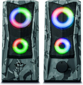Trust Gaming GXT 606 Javv RGB beleuchtete 2.0 Pc Speaker - Grau Camo