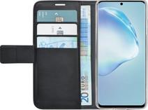 Azuri Brieftasche Samsung Galaxy S20 Bücherregal Schwarz