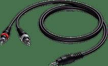 Procab CAB711 2x Cinch Male - 3,5 mm Mini-Klinke Male 1,5 Meter