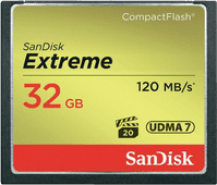 Sandisk CF Extreme, 32 GB, 120 MB/s