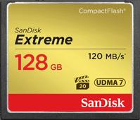 Sandisk CF Extreme, 128 GB, 120 MB/s