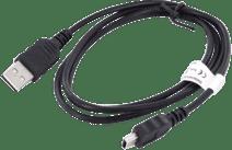 Mobiparts USB-A nach Mini-USB-Kabel 1 m Kunststoff Schwarz