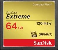 Sandisk CF Extreme, 64 GB, 120 MB/s