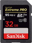 Sandisk SDHC Extreme Pro, 32 GB, 95 MB/s, Class 10