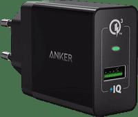 Anker PowerPort+1 Ladegerät ohne Kabel 18 W Quick Charge 3.0 in Schwarz