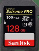 SanDisk SDXC Extreme Pro, 128 GB, 300 MB/s, C10 UHS-II