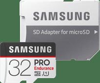 Samsung microSDHC PRO Endurance, 32 GB, 100 MB/s + SD-Adapter